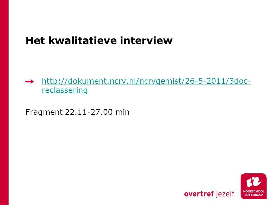 Het kwalitatieve interview
