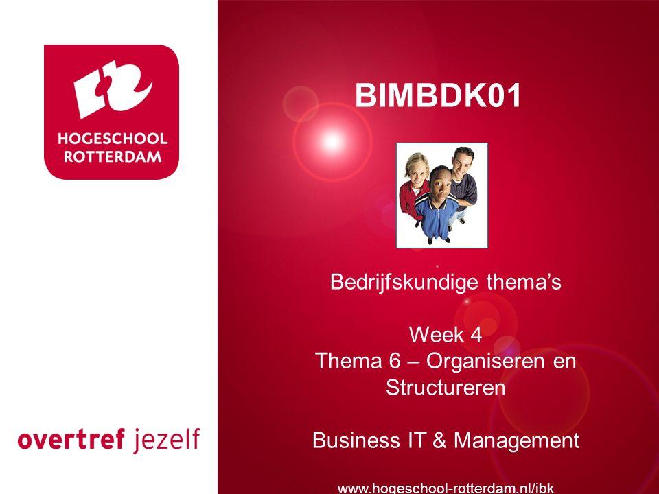 Presentatie titel BIMBDK01 Bedrijfskundige thema's Week 4