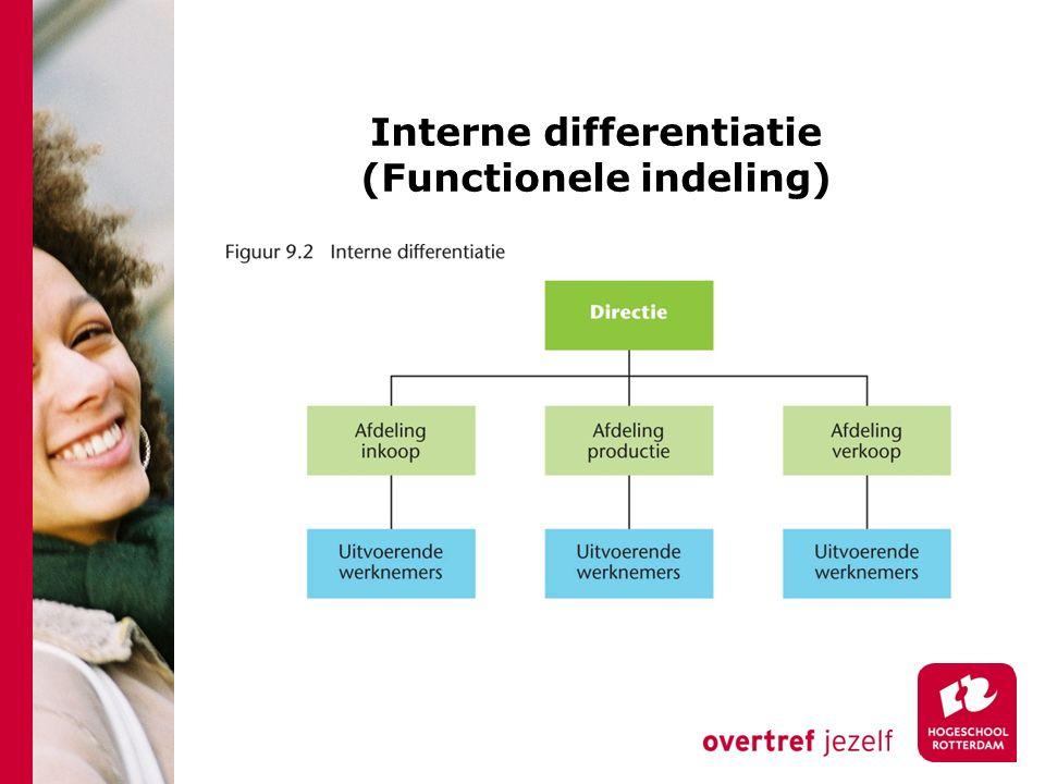 Interne differentiatie (Functionele indeling)