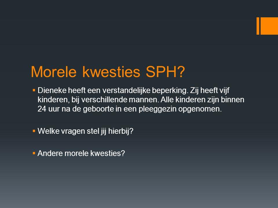 Morele kwesties SPH