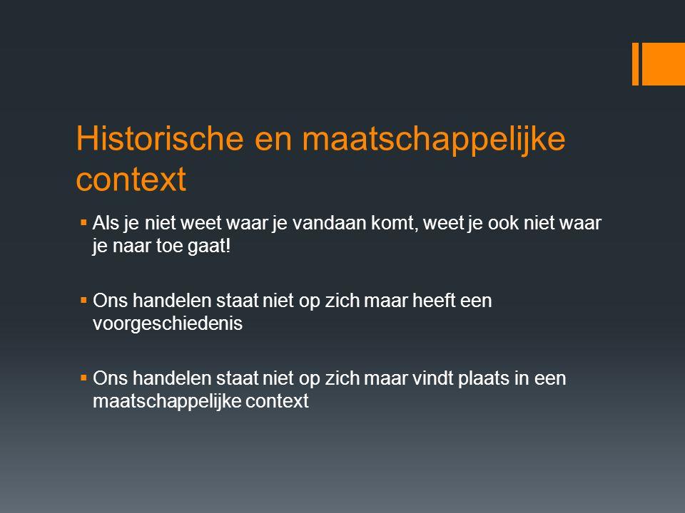 Historische en maatschappelijke context