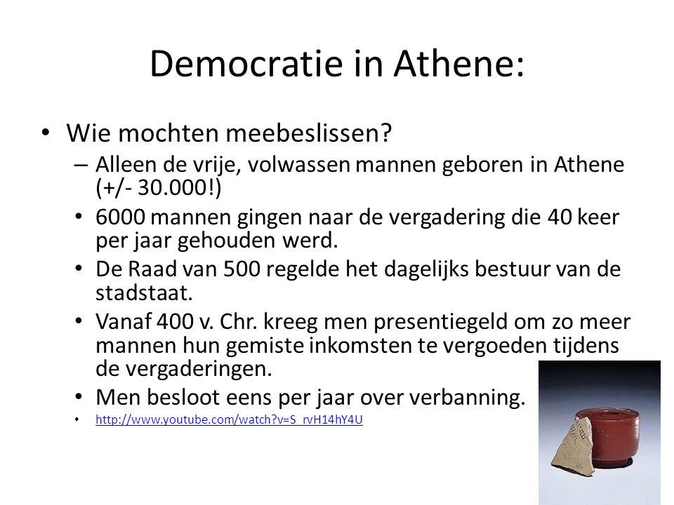 Democratie in Athene: Wie mochten meebeslissen