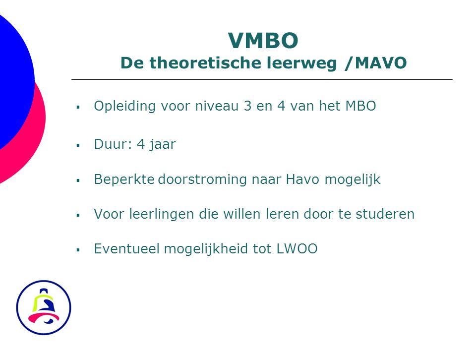 De theoretische leerweg /MAVO
