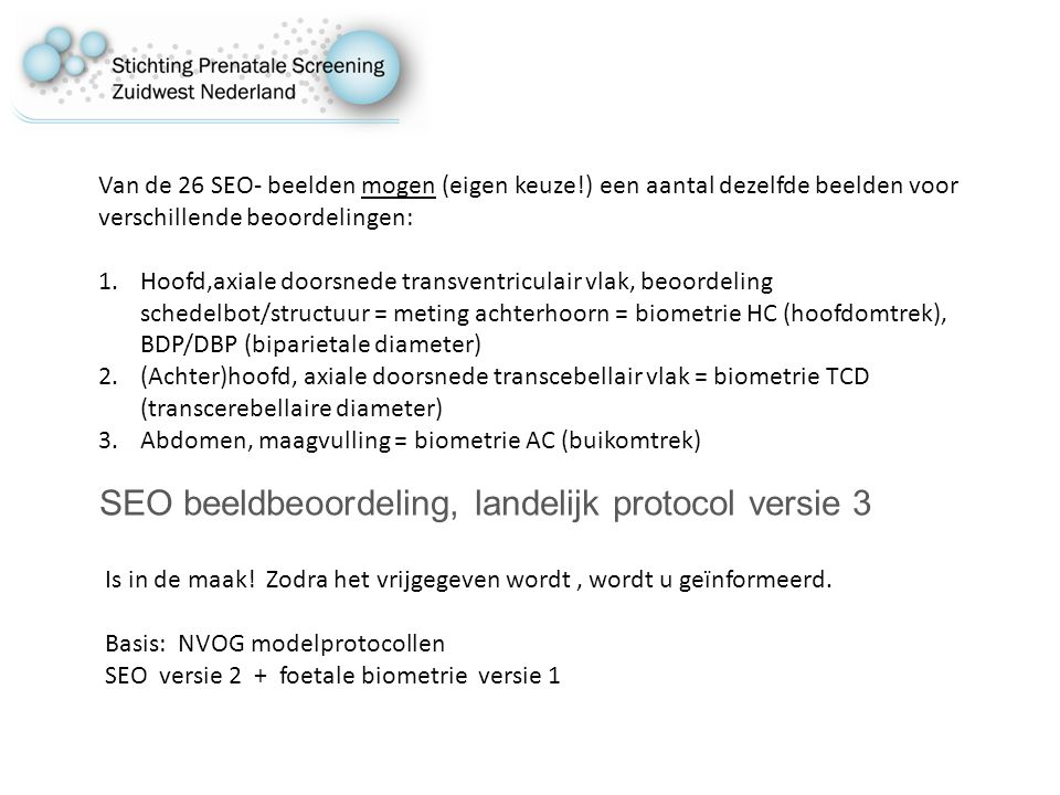 SEO beeldbeoordeling, landelijk protocol versie 3