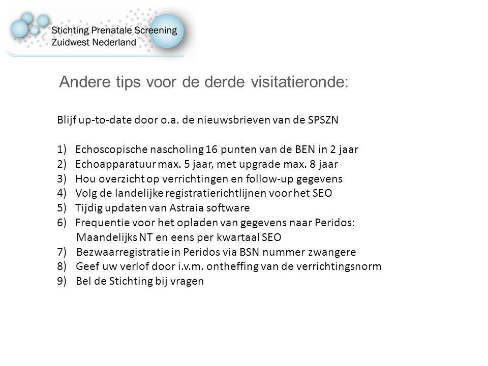 Andere tips voor de derde visitatieronde: