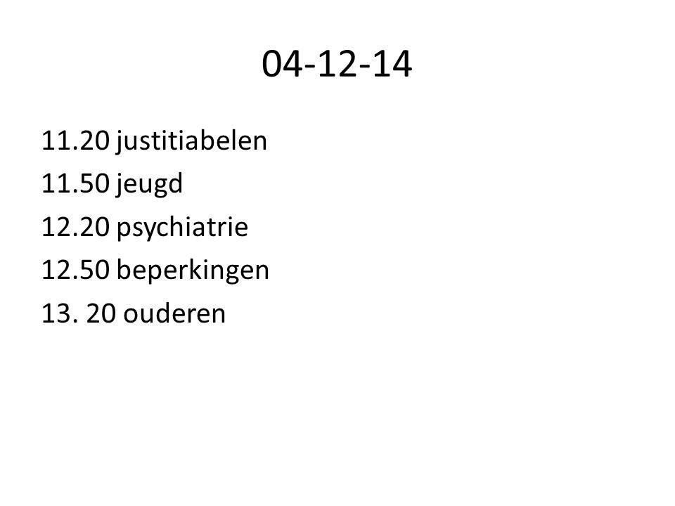 04-12-14 11.20 justitiabelen 11.50 jeugd 12.20 psychiatrie