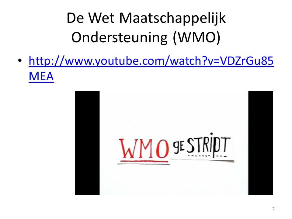De Wet Maatschappelijk Ondersteuning (WMO)