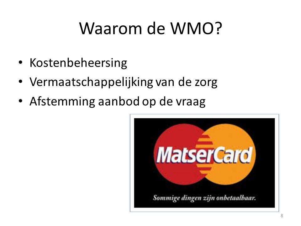 Waarom de WMO Kostenbeheersing Vermaatschappelijking van de zorg