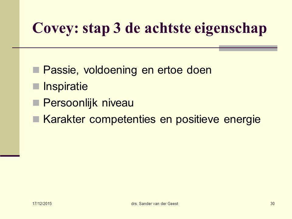 Covey: stap 3 de achtste eigenschap