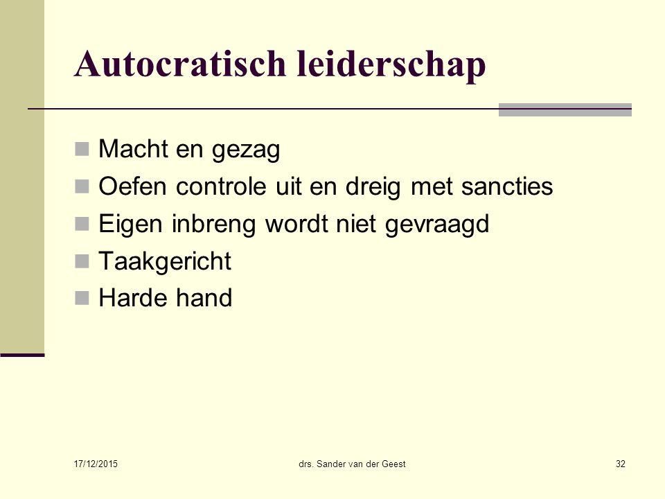 Autocratisch leiderschap