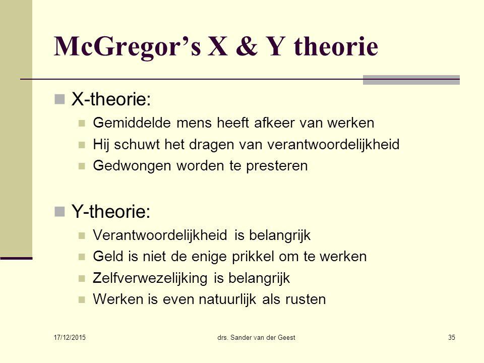 McGregor's X & Y theorie