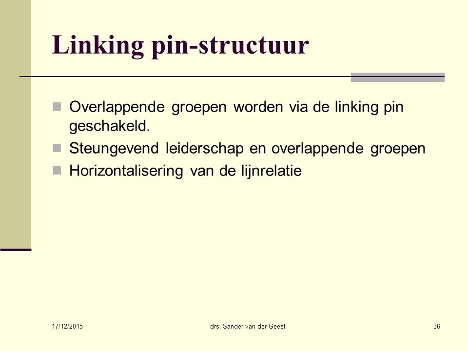 Linking pin-structuur
