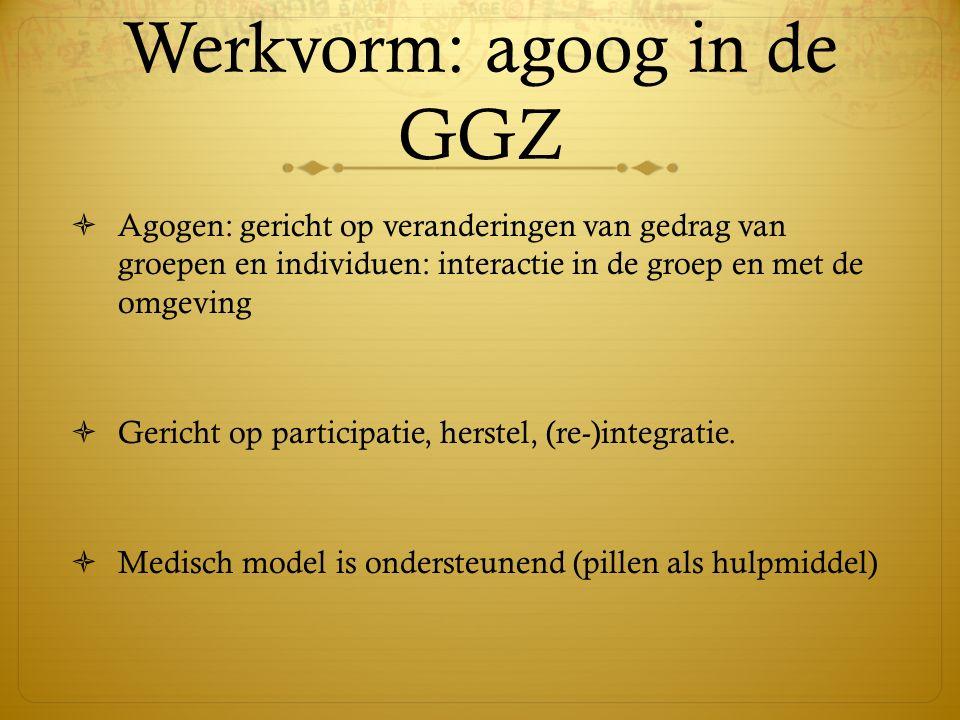 Werkvorm: agoog in de GGZ