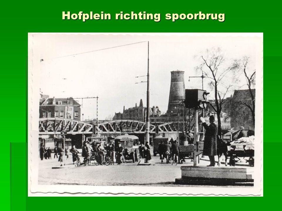 Hofplein richting spoorbrug