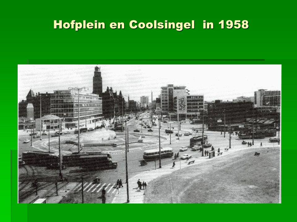 Hofplein en Coolsingel in 1958