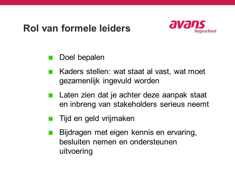 Rol van formele leiders