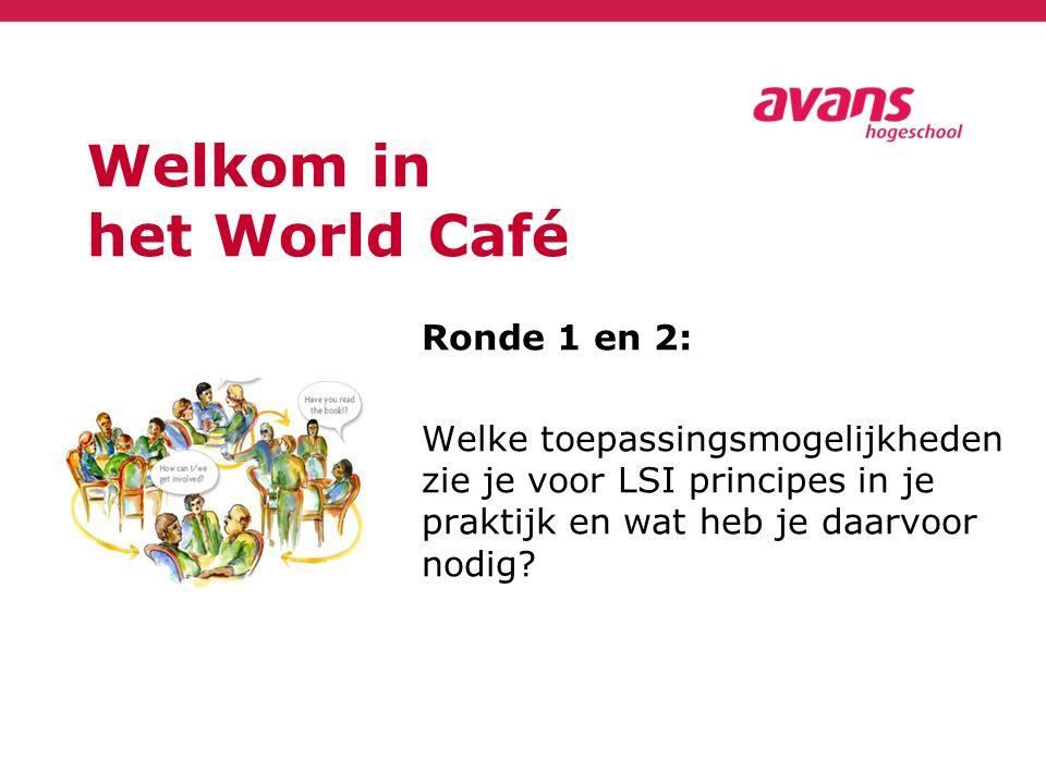 Welkom in het World Café