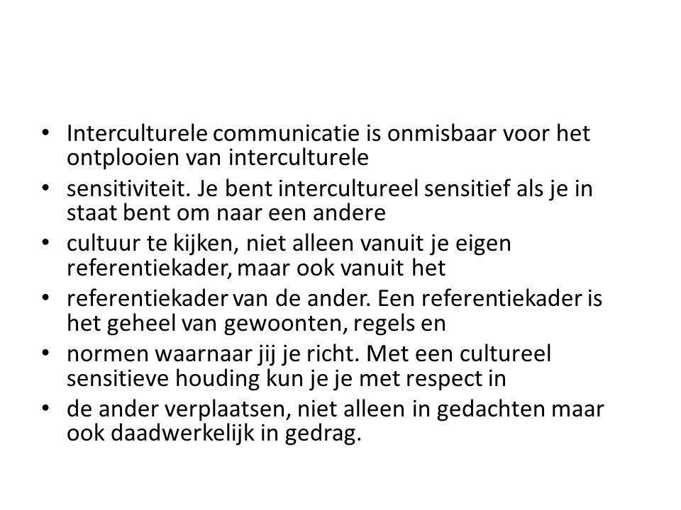 Interculturele communicatie is onmisbaar voor het ontplooien van interculturele