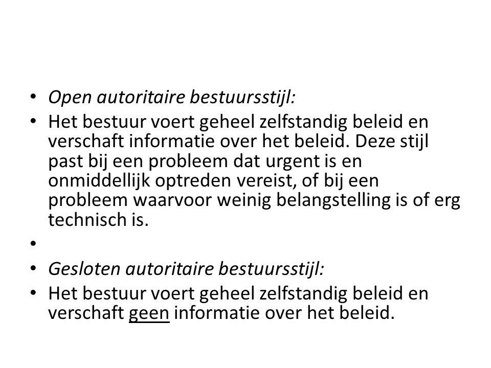 Open autoritaire bestuursstijl: