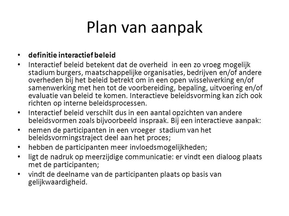 Plan van aanpak definitie interactief beleid