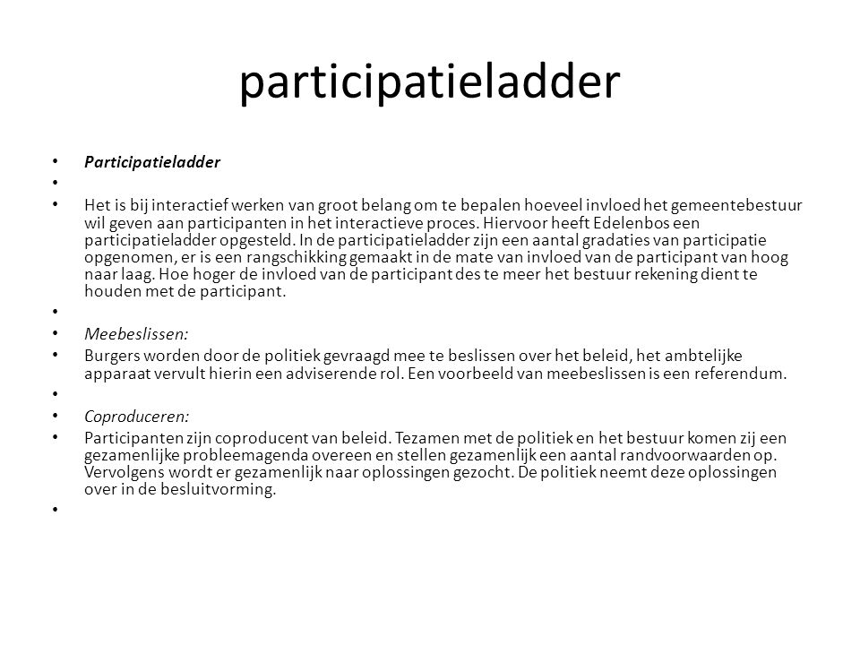 participatieladder Participatieladder