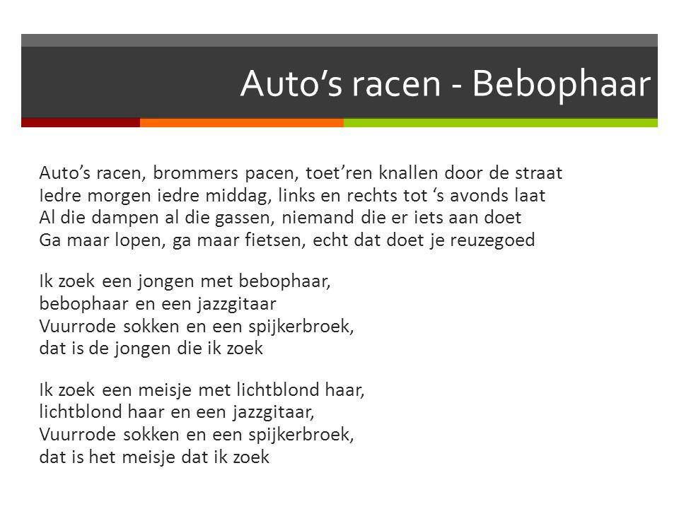 Auto's racen - Bebophaar