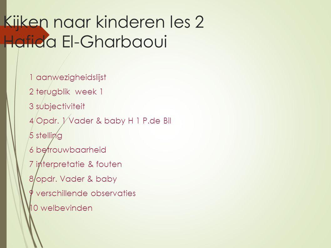Kijken naar kinderen les 2 Hafida El-Gharbaoui