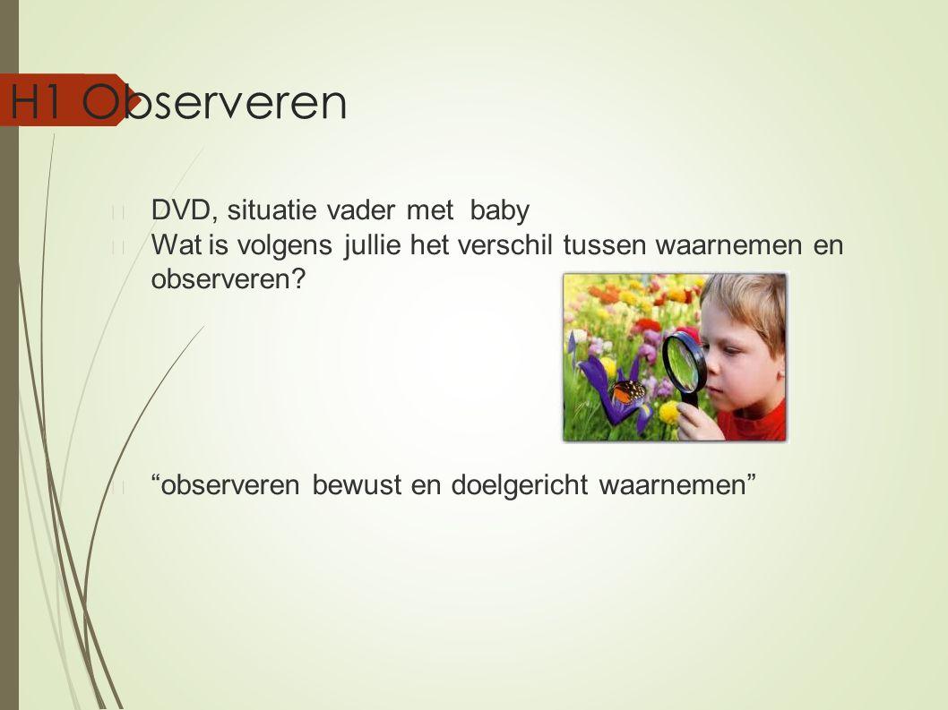 H1 Observeren DVD, situatie vader met baby