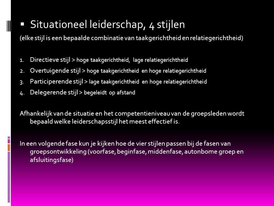 Situationeel leiderschap, 4 stijlen