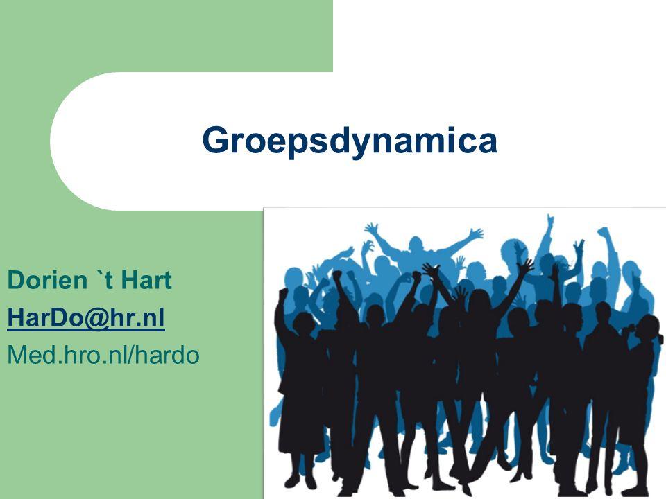 Dorien `t Hart HarDo@hr.nl Med.hro.nl/hardo