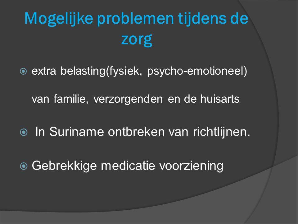 Mogelijke problemen tijdens de zorg