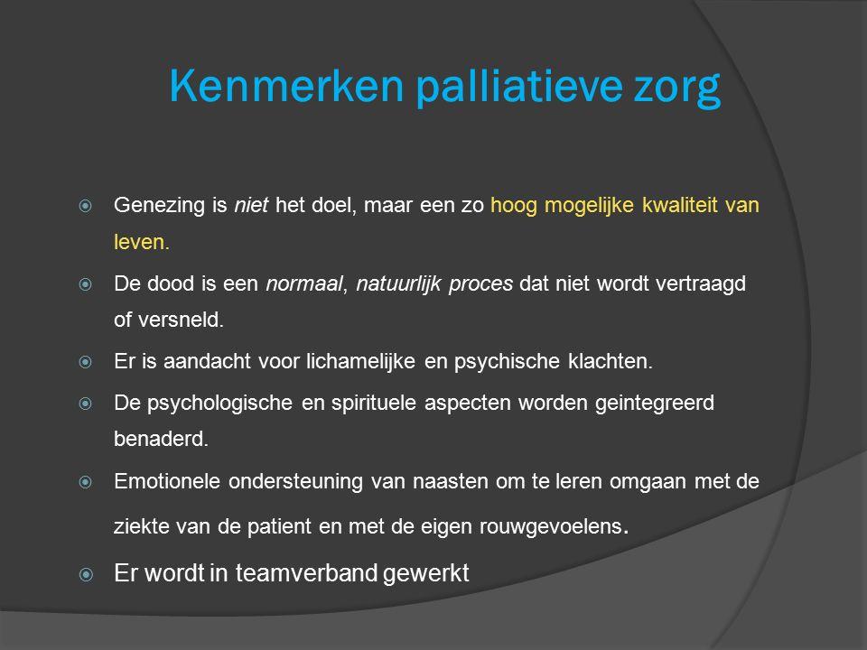 Kenmerken palliatieve zorg