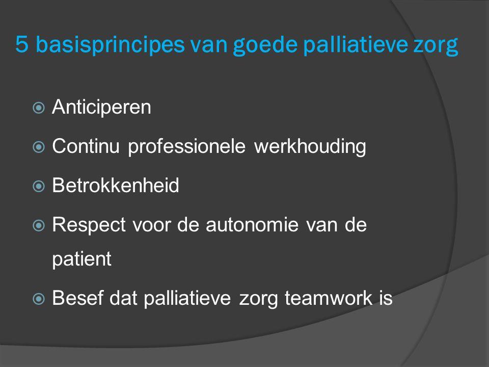 5 basisprincipes van goede palliatieve zorg