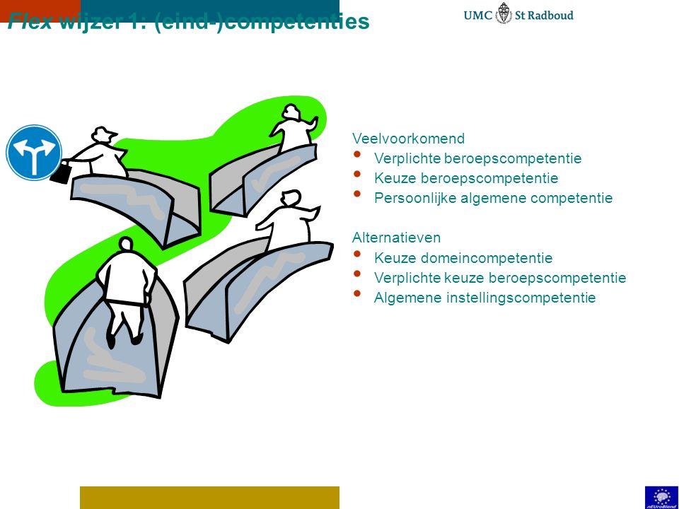 Flex wijzer 1: (eind-)competenties