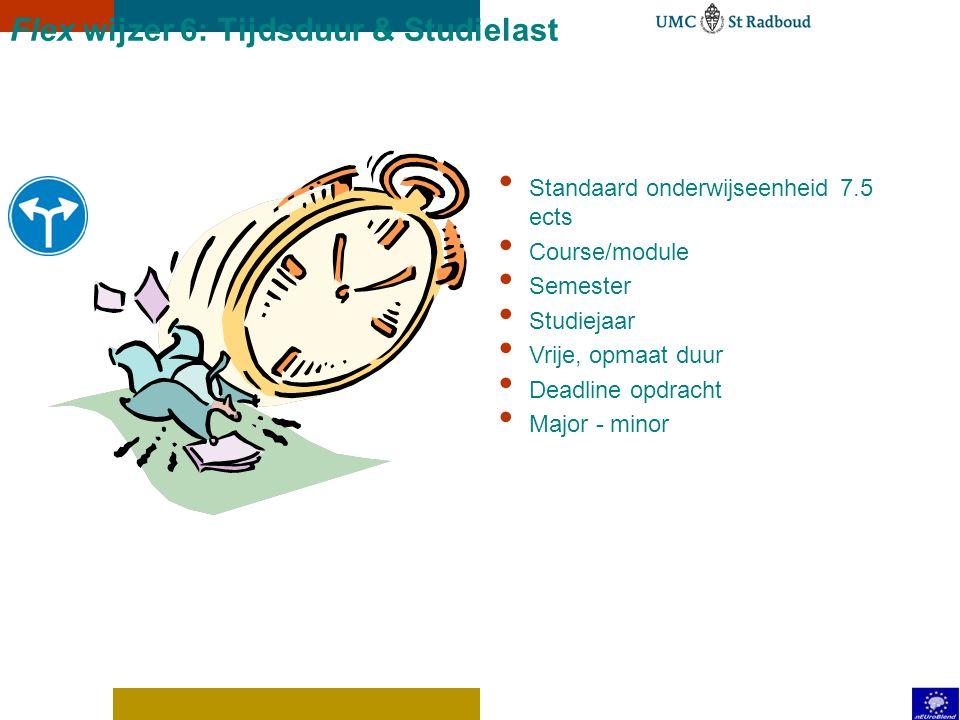Flex wijzer 6: Tijdsduur & Studielast