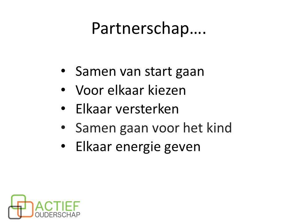 Partnerschap…. Samen van start gaan Voor elkaar kiezen