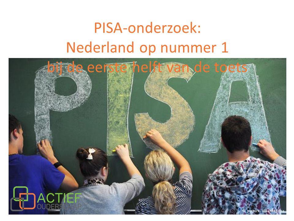 PISA-onderzoek: Nederland op nummer 1 bij de eerste helft van de toets