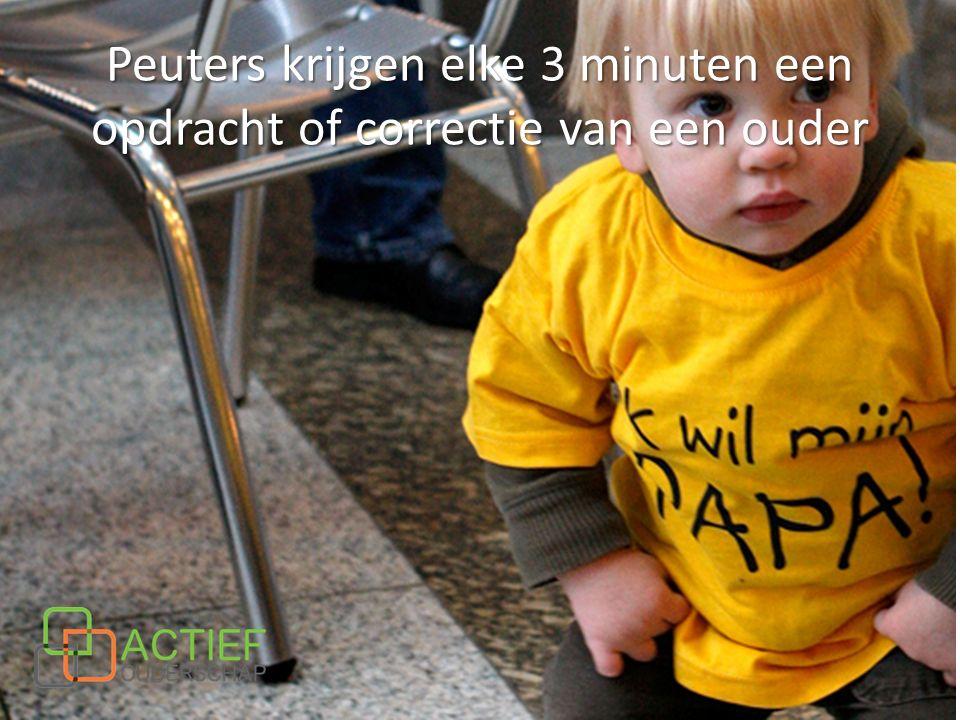 Peuters krijgen elke 3 minuten een opdracht of correctie van een ouder