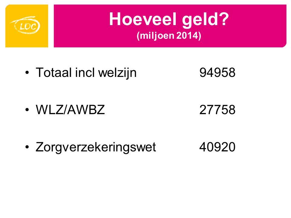 Hoeveel geld (miljoen 2014)