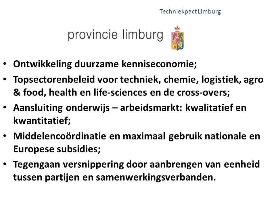 Ontwikkeling duurzame kenniseconomie;