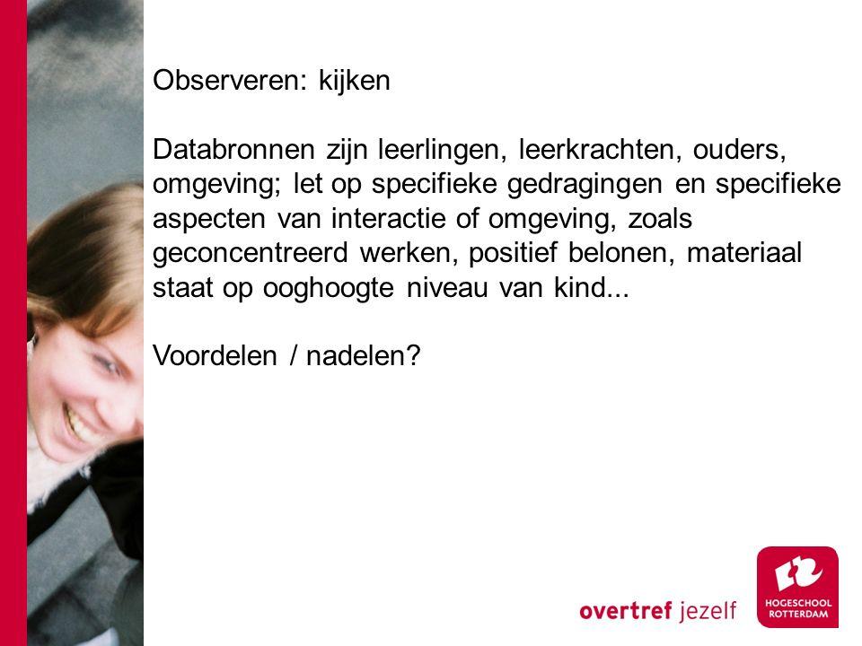 Observeren: kijken