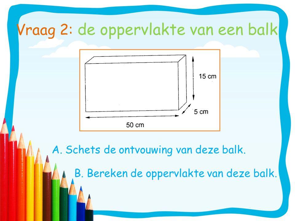 Vraag 2: de oppervlakte van een balk