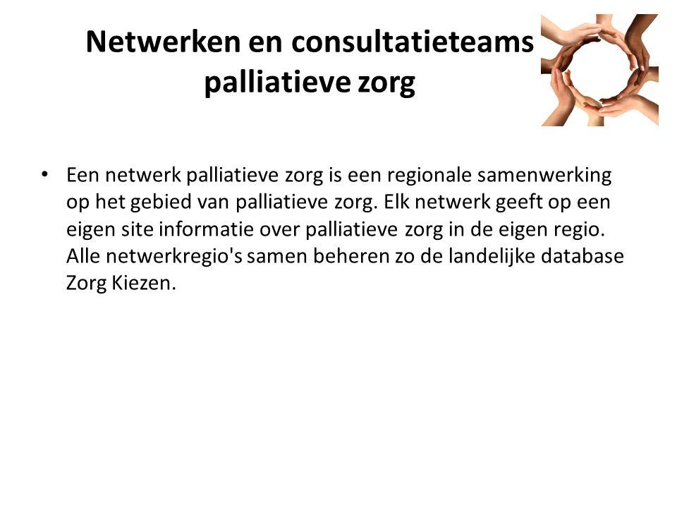 Netwerken en consultatieteams palliatieve zorg
