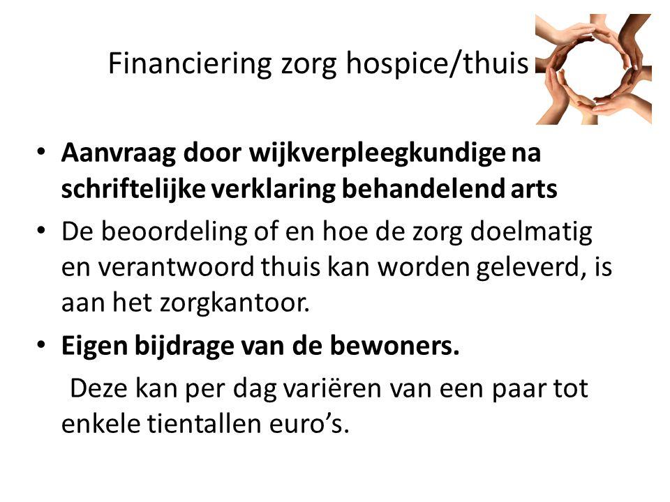 Financiering zorg hospice/thuis
