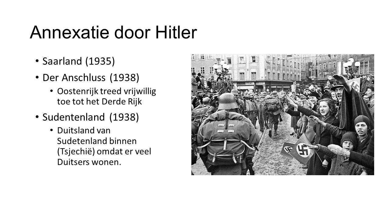 Annexatie door Hitler Saarland (1935) Der Anschluss (1938)