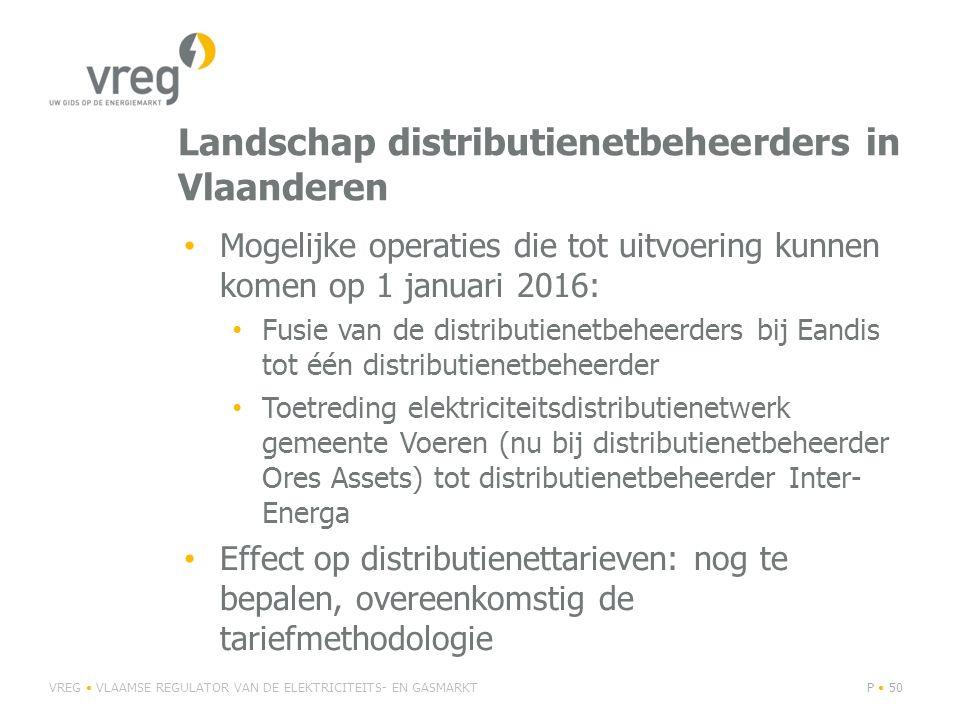 Landschap distributienetbeheerders in Vlaanderen