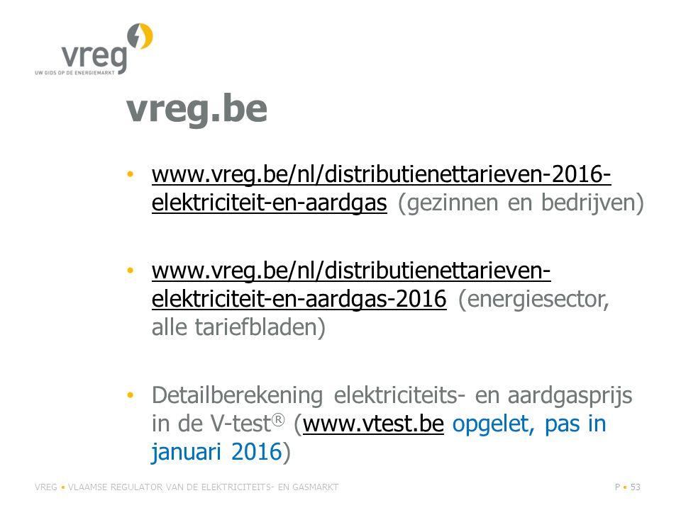 vreg.be www.vreg.be/nl/distributienettarieven-2016-elektriciteit-en-aardgas (gezinnen en bedrijven)