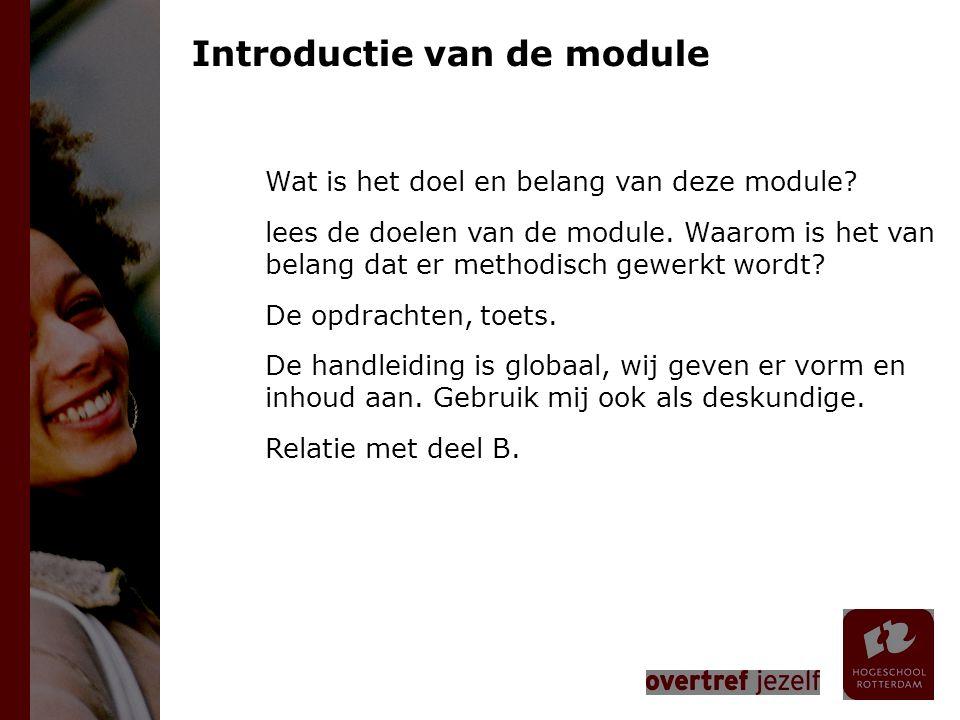 Introductie van de module