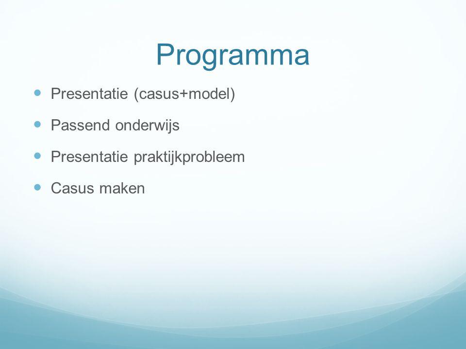 Programma Presentatie (casus+model) Passend onderwijs