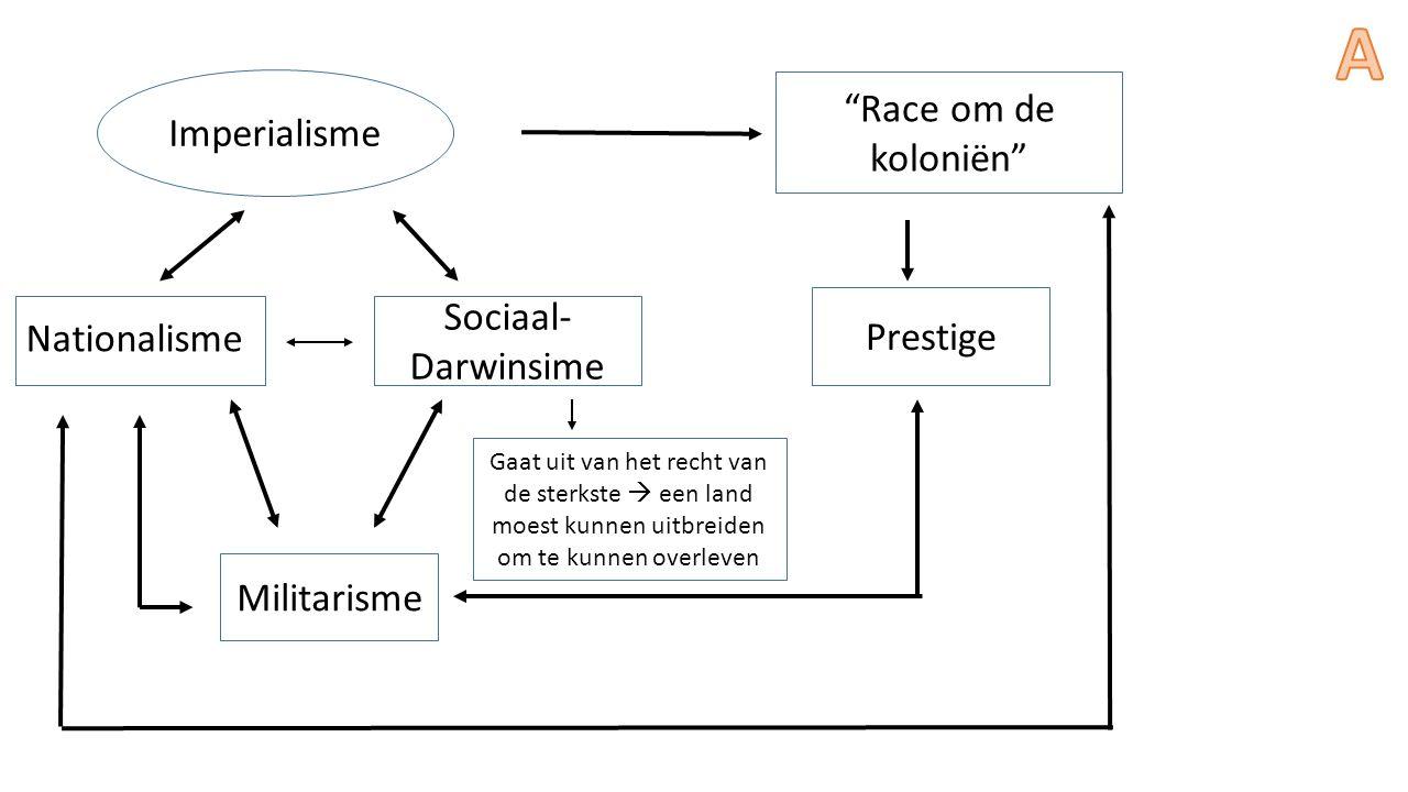 A Race om de koloniën Imperialisme Sociaal-Darwinsime Prestige